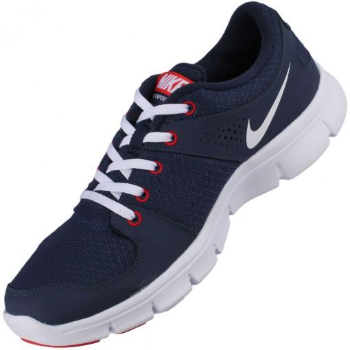 Tênis Nike Flex Experience RN Masculino Azul Marinho Branco Vermelho 525762-400