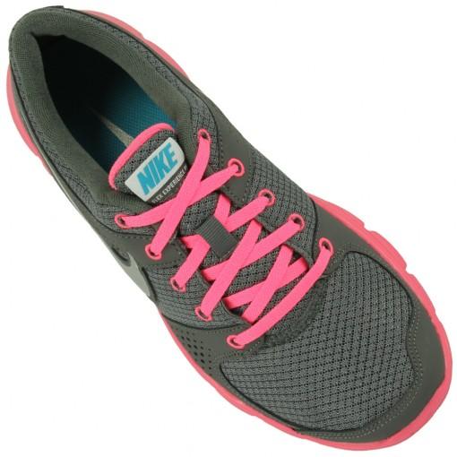 Tênis Nike Flex Experience RN Feminino Cinza Rosa Prata 525754-007