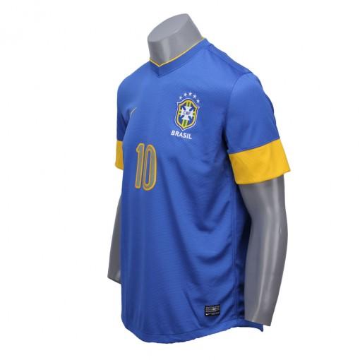 Camisa Nike Torcedor Seleção Brasil II 2012  Com Número 10 Manga Curta   447939-493