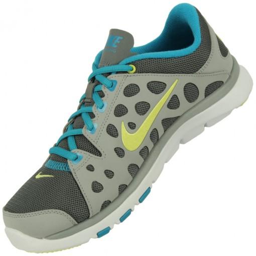 Tênis Nike Flex Supreme TR Feminino Cinza Amarelo Turquesa