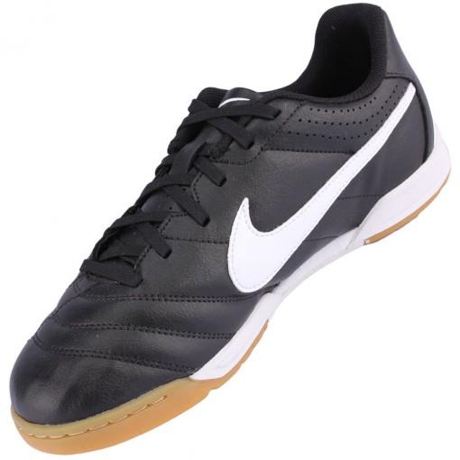 79adb29dc1 Chuteira Futsal Nike Tiempo Natural 4 IC Juvenil Preto Branco 454327-018