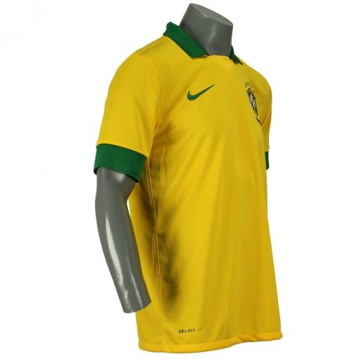 Camisa Nike Seleção Brasil I 2013 Torcedor  Sem Número Manga Curta   518730-703