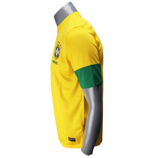 Camisa Nike Seleção Brasil I 2012 Torcedor  Sem Número Manga Curta   447931-703