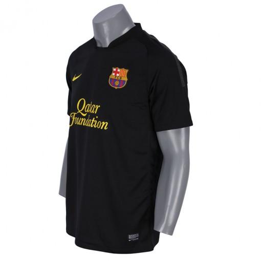 Camisa Nike Barcelona Away 2011 2012 Masculino Sem N Mero Manga Curta Preto 419880 010