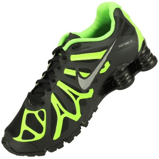 Tênis Nike Shox Turbo+ 13 Masculino Preto Lima