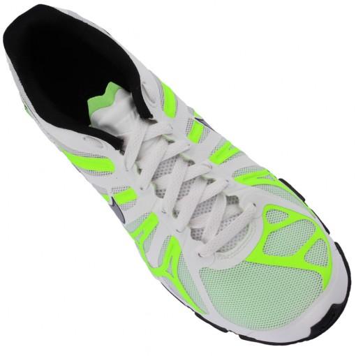 Tênis Nike Shox Turbo+ 13 Masculino Branco Preto Verde Fluorescente 525155-103