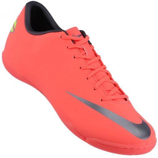 Chuteira Futsal Nike Mercurial Victory 3 IC Masculino SalmÆo Preto ... f504f955e7963