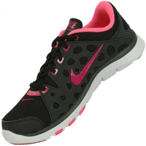 Tênis Nike Flex Supreme TR Feminino Preto Rosa Pink Branco 537509-006