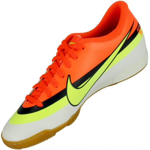 c7917fc4bf Chuteira Futsal Nike Mercurial Vortex CR IC Masculino Branco Laranja ...
