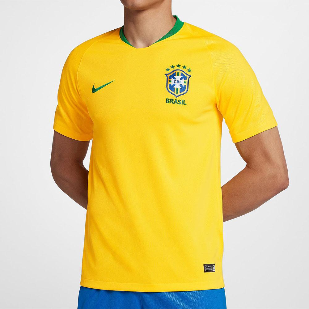 1cd7fb505c Camisa Nike CBF Seleção Brasil I 2018 19 Torcedor