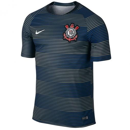Camisa Nike Corinthians Pré Jogo 2016 SCCP Flash SS Top