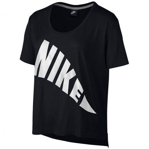 Camiseta Nike Nsw Top Feminino Preto Branco