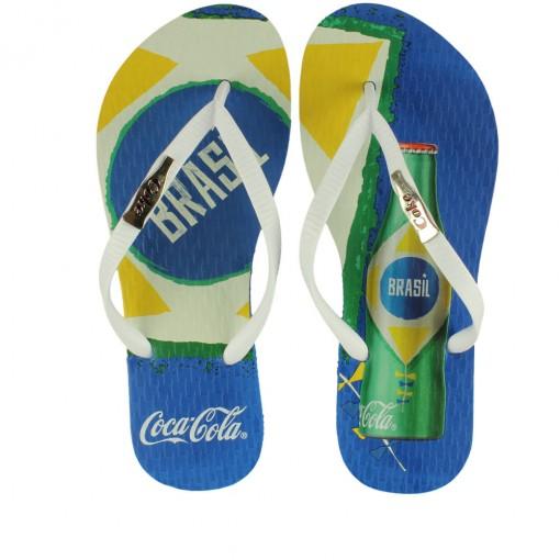 Chinelo Coca-Cola Todo Mundo Brasil