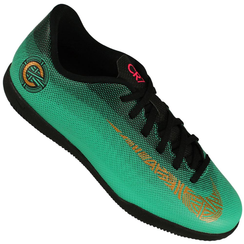 Chuteira Futsal Nike Mercurial Vaporx 12 Club CR7 Juvenil 3feb472a492f6
