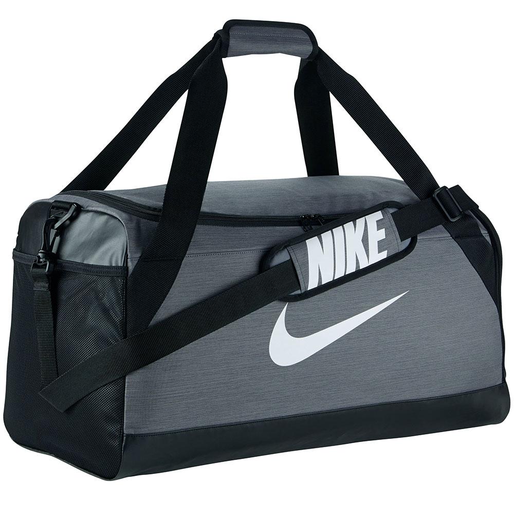 Bolsa Nike Brasilia Duffel Medium  | Cinza-Preto-Branco