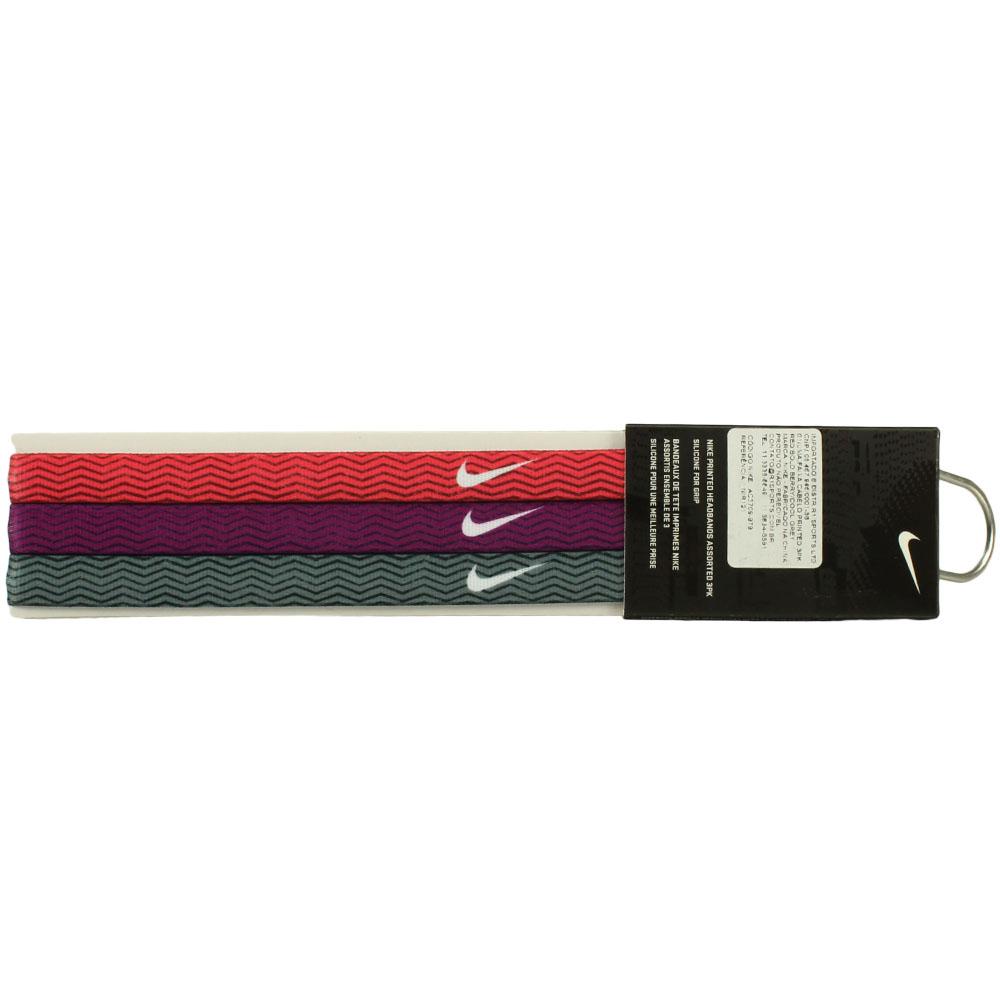 Imagem - Kit 3 Faixas de Cabelo Nike Printed Assorted