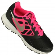 Imagem - Tenis Nike Downshifter 6 gs ps Juvenil Pto-pnk-bco