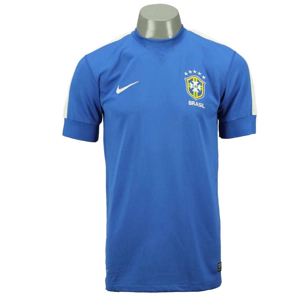 Camisa Nike Seleção Brasil II 2013 Azul 94035725e085b