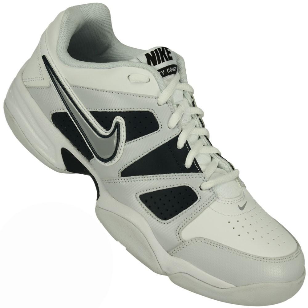 Tênis Nike City Court VII Masculino Branco Cinza Preto 3e36867d3b9a8