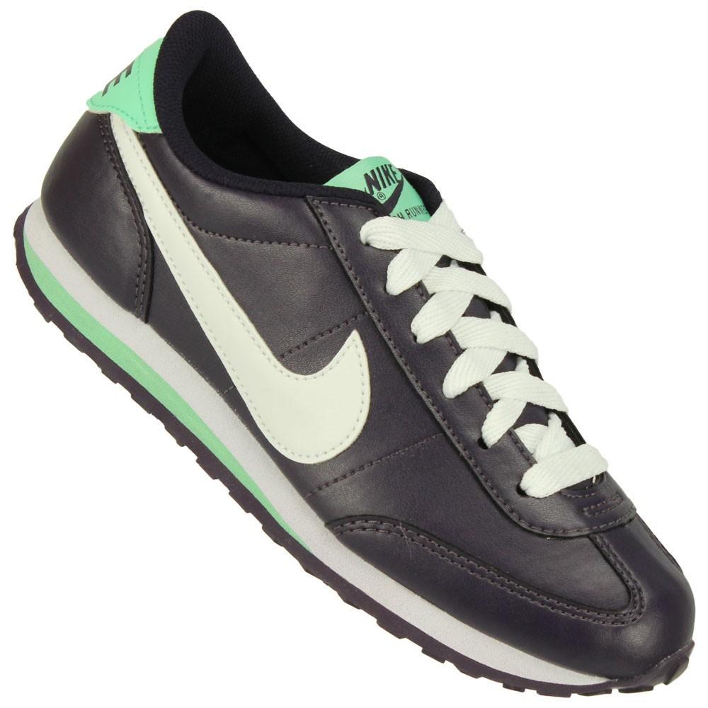 680ba6c08 Tênis Nike Mach Runner SL Feminino Roxo Branco Verde Claro
