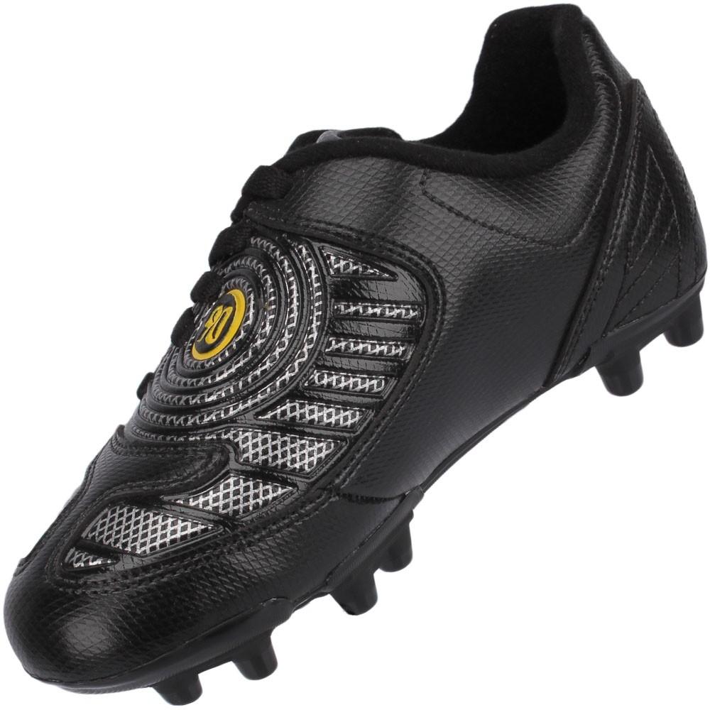 ebd2f45301120 Chuteira Campo Nike Total 90 Exacto 2 FG Juvenil Preto Cinza Amarelo