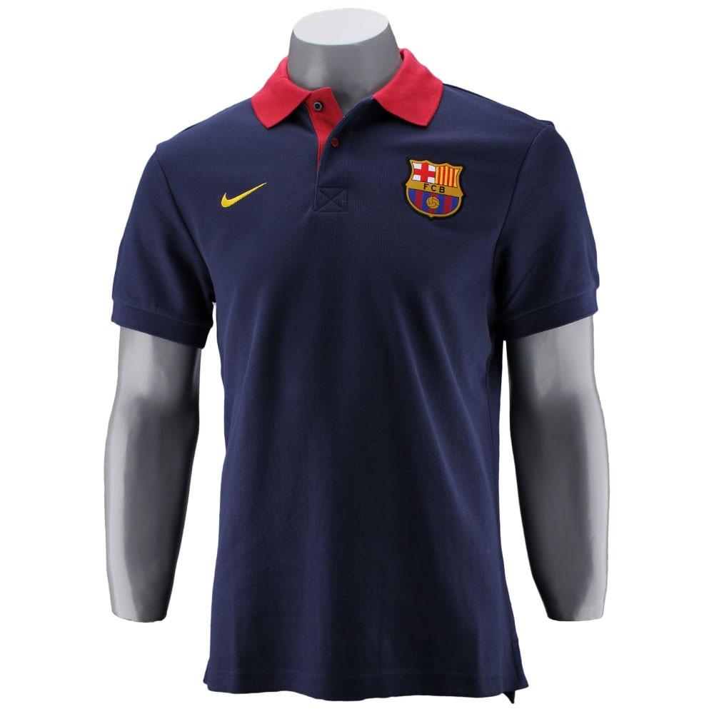 2040fd2ca Camisa Polo Nike Barcelona Masculino Sem N£mero Manga Curta Azul ...