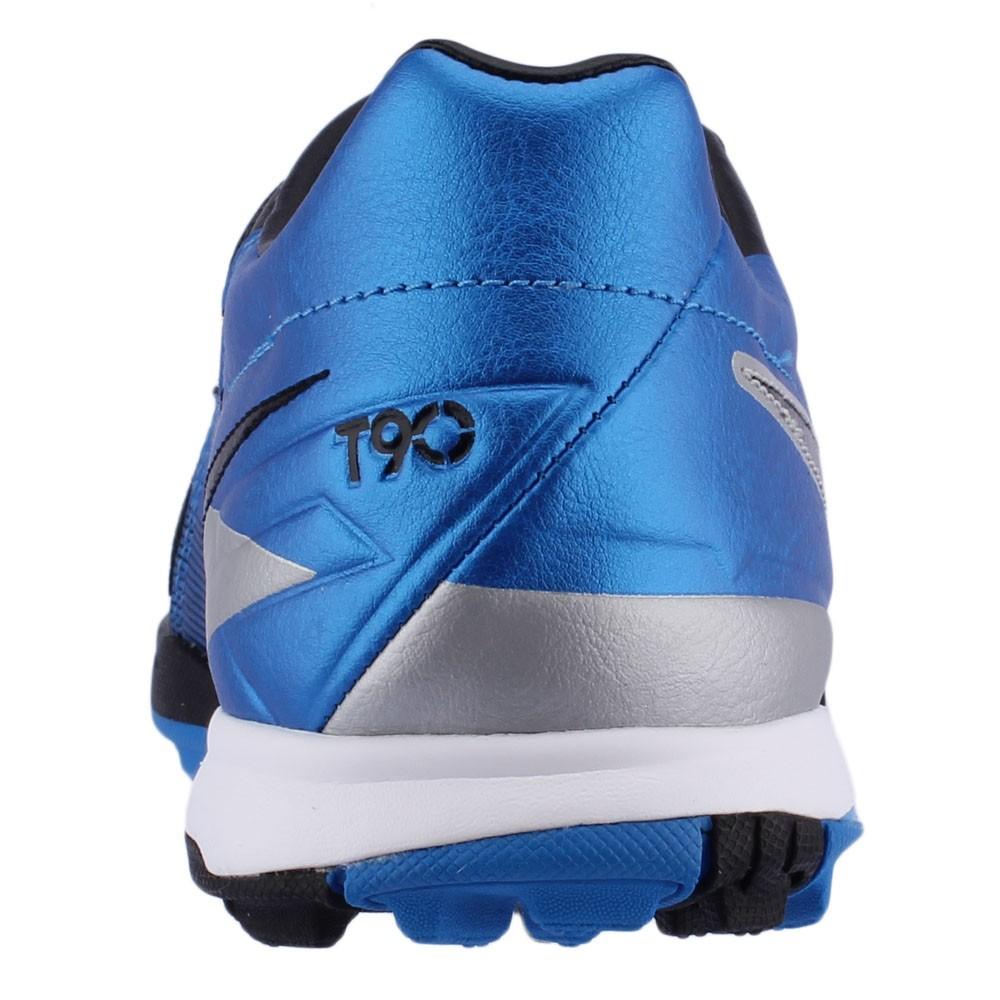 Chuteira Society Nike Total 90 Shoot 4 TF Masculino Azul Preto Cinza ... 5475acf1a0ceb