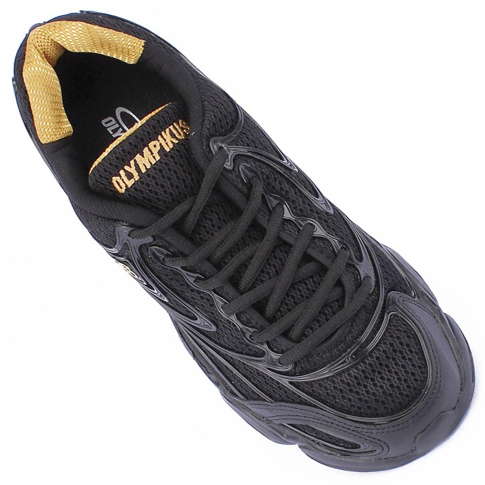 42819dd6926 Tênis Olympikus Force Preto Dourado 414