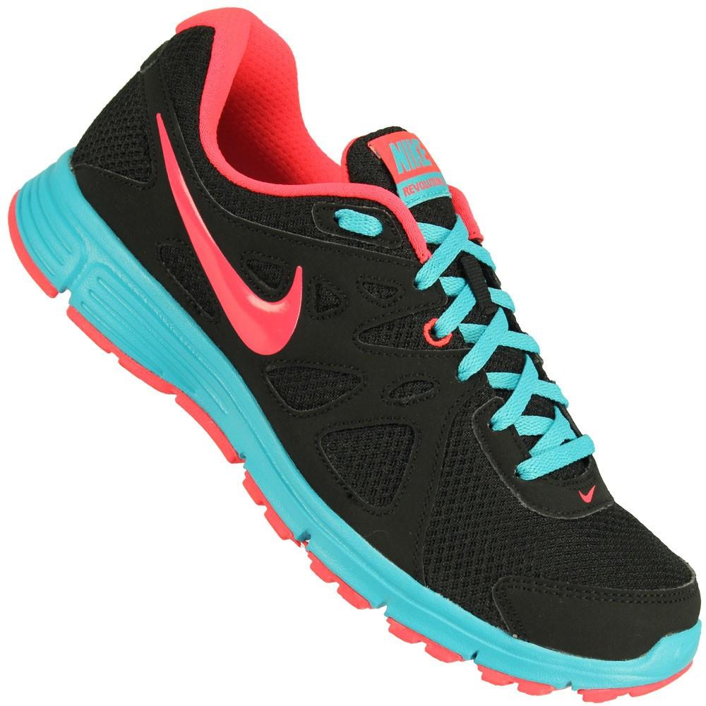 4e05021cc15 Tênis Nike Revolution 2 MSL Feminino Cinza Azul Pink