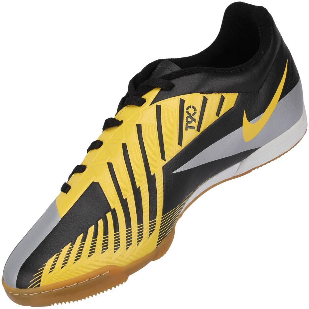 Chuteira Futsal Nike Total 90 Exacto 4 IC Masculino Vermelho Chumbo ... c1171424cf0b3