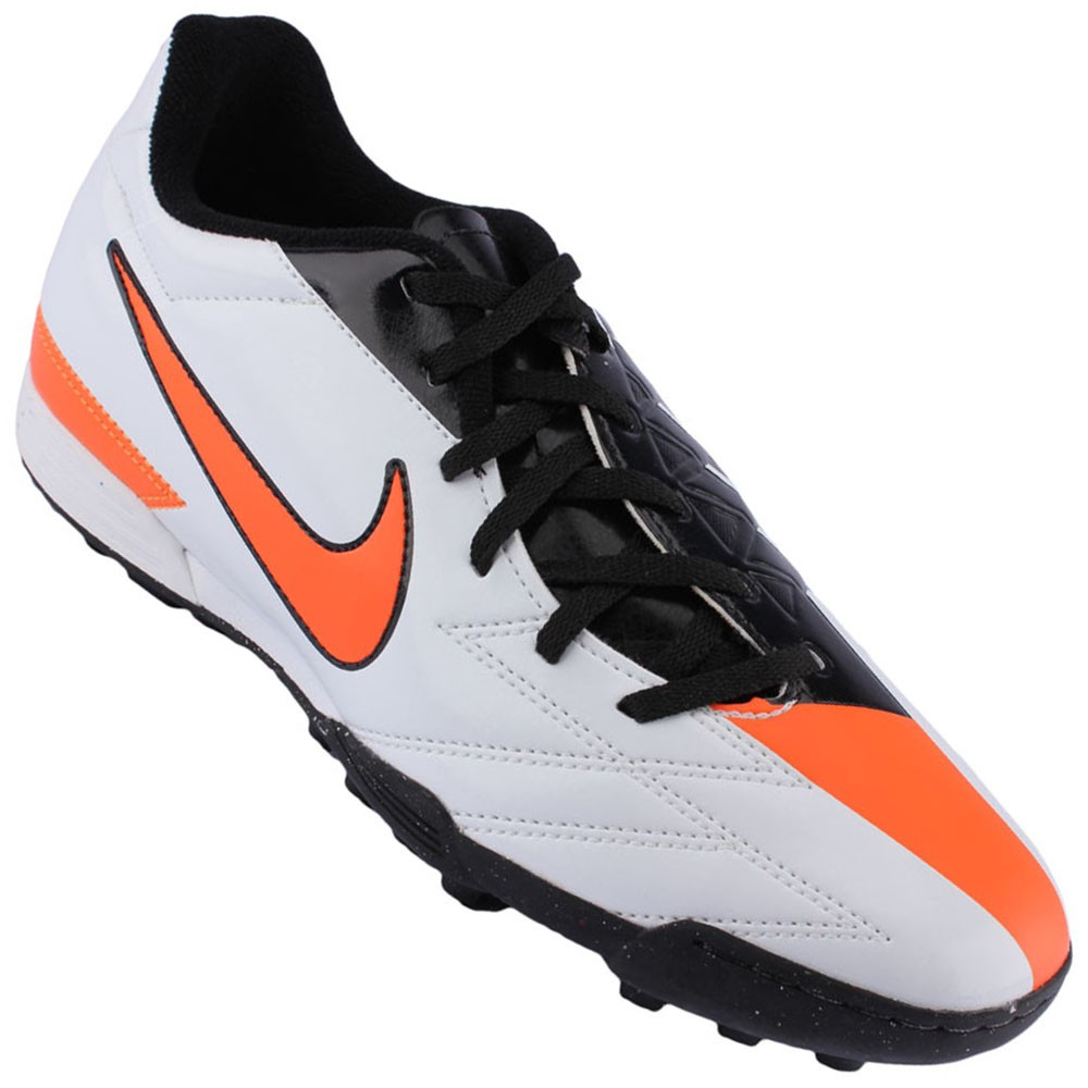 Chuteira Society Nike Total 90 Exacto 4 TF Masculino Vermelho Cinza ... 8c193a1207c29
