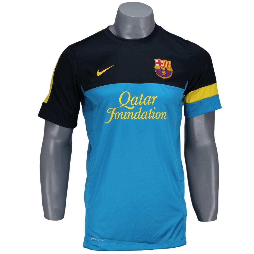 Camisa Nike FC Barcelona Treino 2013 Preto Azul Amarelo f81d8a32d71f2