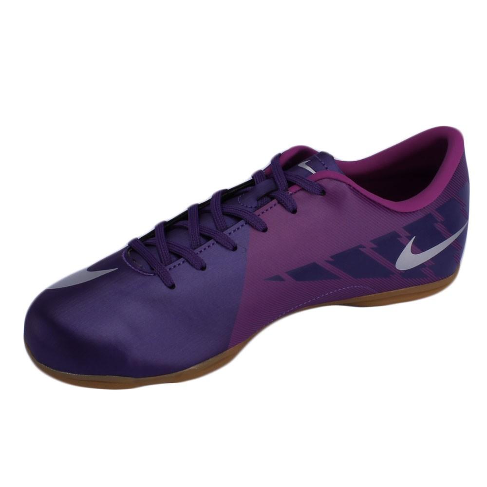 Chuteira Futsal Nike Mercurial Victory 2 IC EMB Juvenil Roxo Prata ... 8872afad20769