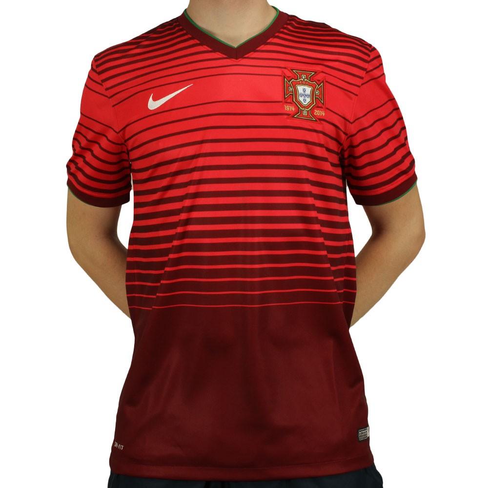 En segundo lugar Oclusión Acostumbrar  Camisa Nike Seleção Portugal Home 2014