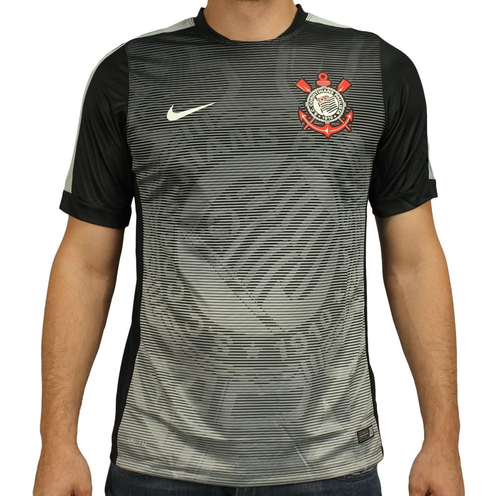 Camisa Nike Corinthians Pré Jogo 2015 3d108081beea0