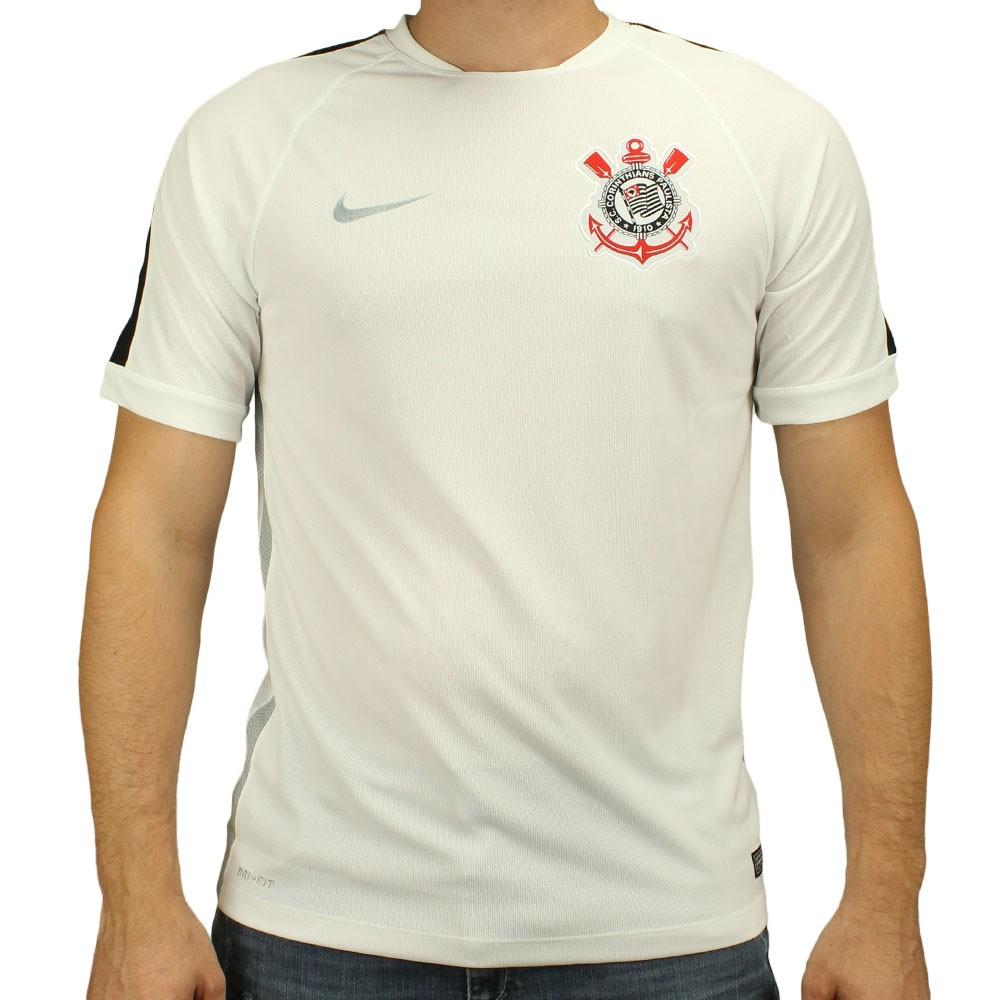 camiseta nike treino squad corinthians branca compre agora dafiti ... 96b34b0034ed2