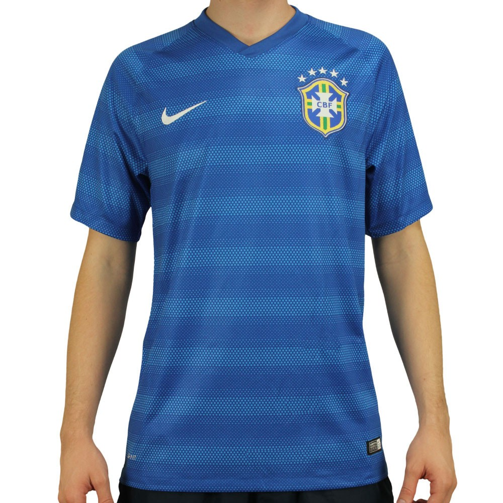 f109897a4a Freecs Original Nike - Camisa Nike Seleção Brasil II 2014 Azul.
