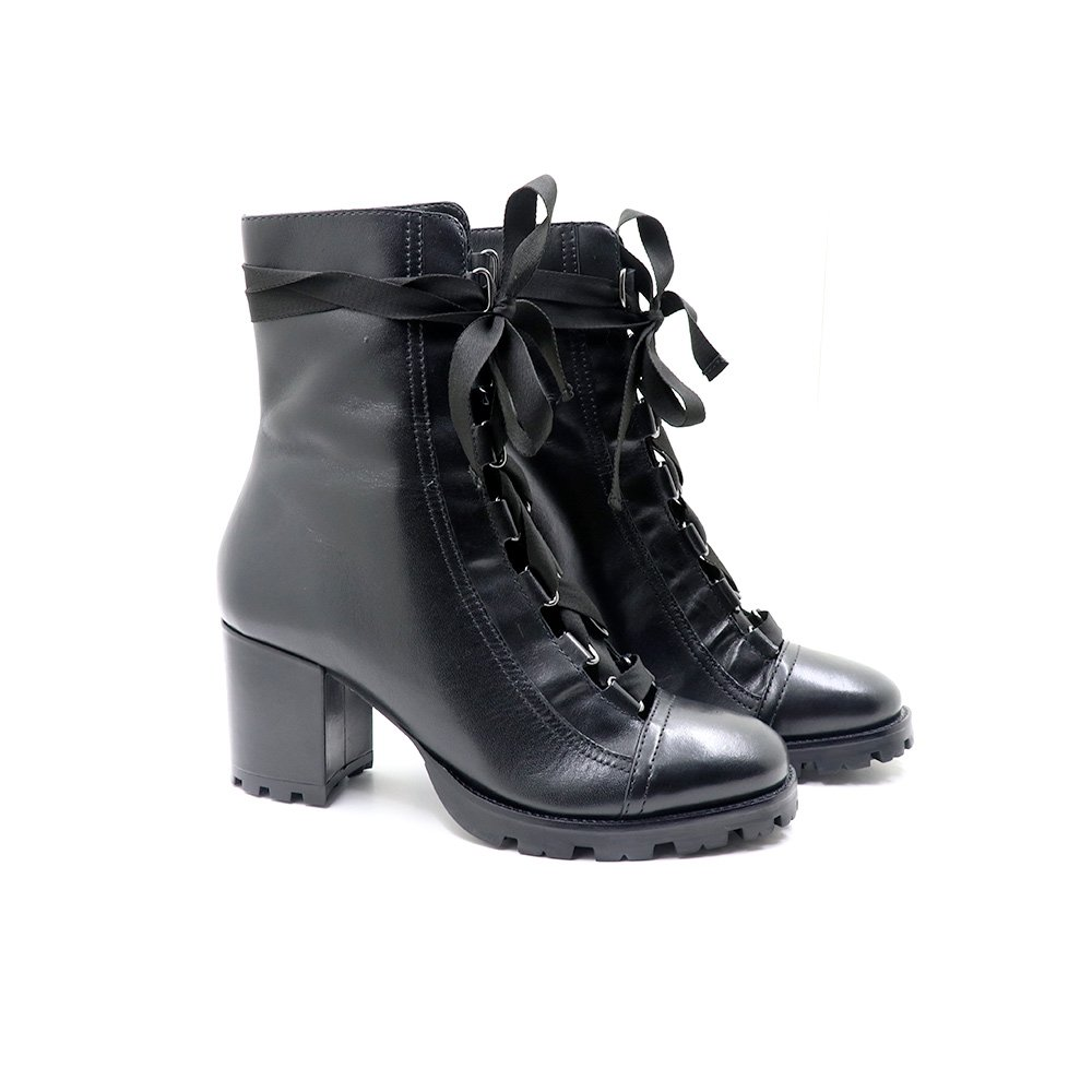 23c13c9548 Combat Boot Lace Up Black Schutz-S2055600030001