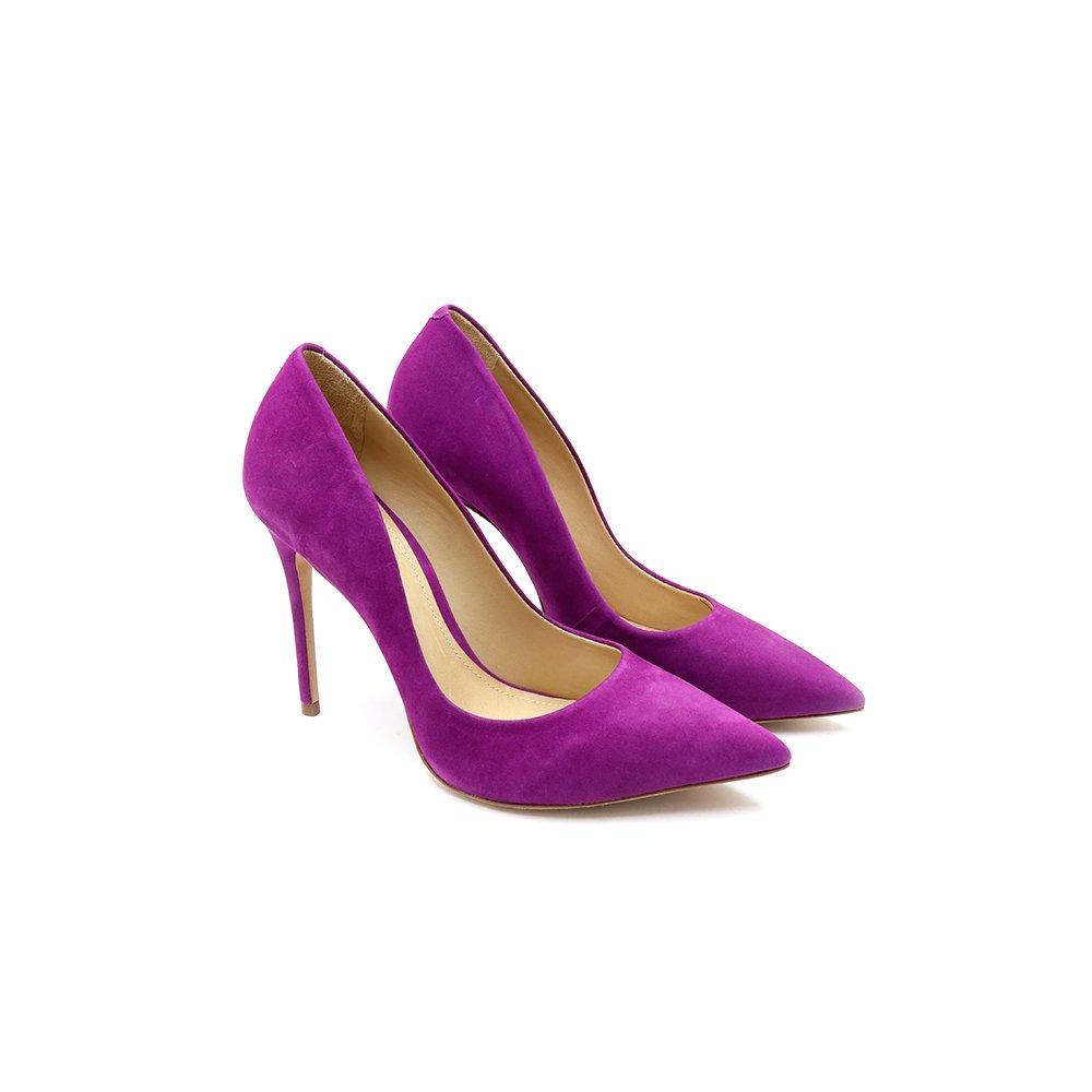 b7f8916e51 Scarpin Classic Nobuck Pink Lilac Schutz-S0209100010740
