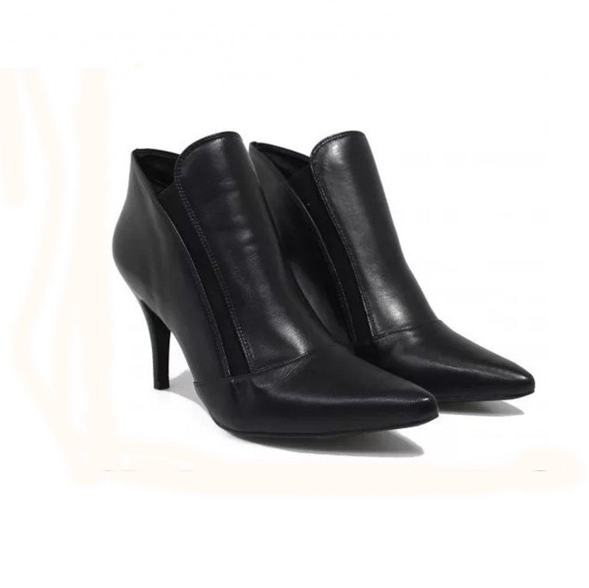 101d8003d Bota Couro Luz da Lua Ankle Boot   G&Co Shoes