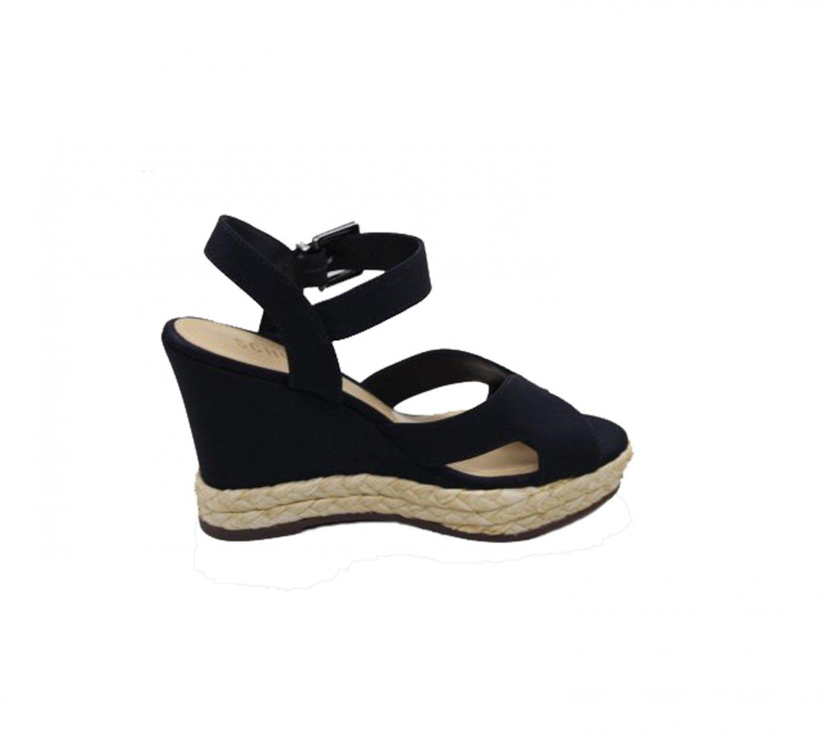 2a0aec244 Sandalia Anabela Leather Black Schutz | G&Co Shoes