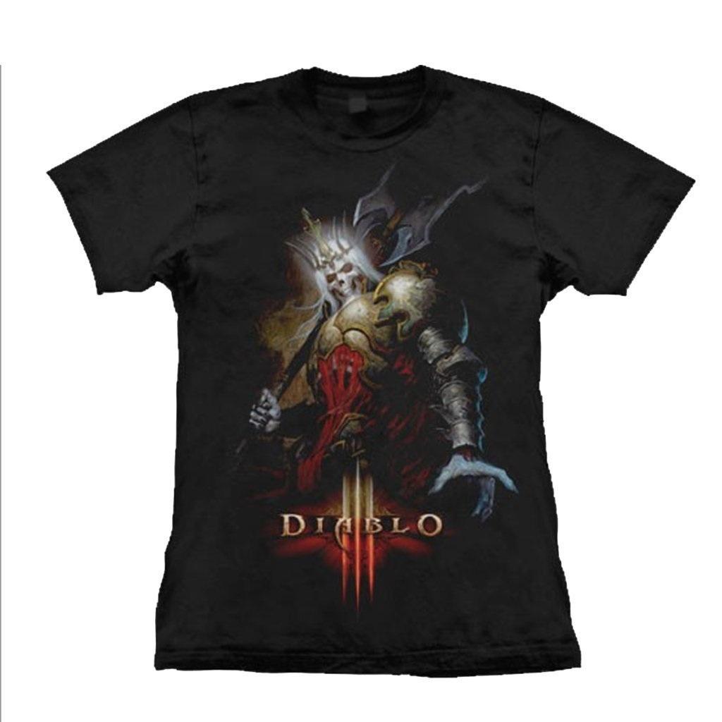 Camiseta Feminina Diablo - Skeleton King