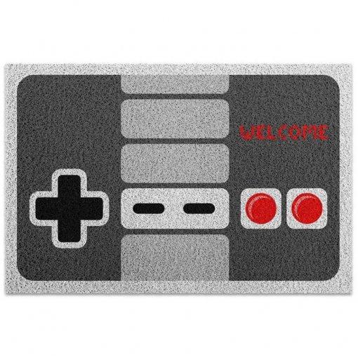 Capacho de Vinil Gamer Joystick / Controle Retrô NES