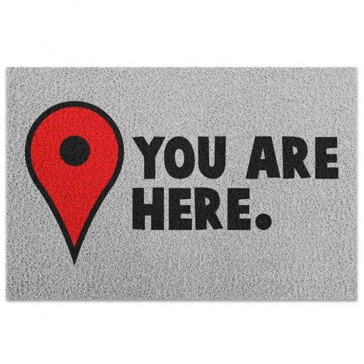 Capacho de Vinil You Are Here - Pin Mapa