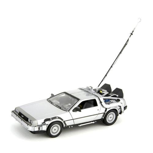 Carro DeLorean Time Machine Back to the Future - Miniatura 1:24 De Volta para o Futuro