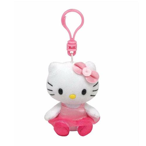 Chaveiro de Pelúcia Hello Kitty Bailarina - Beanie Babies Ty
