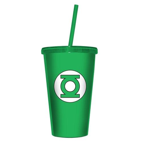 Copo com Canudo Lanterna Verde / Green Lantern - DC Comics