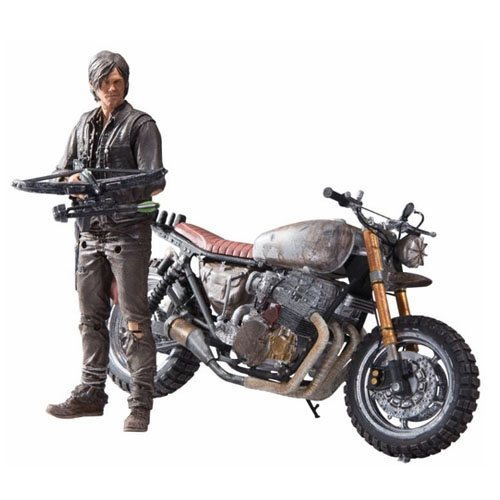 Daryl Dixon com Moto - Action Figure The Walking Dead - Deluxe Set McFarlane Toys