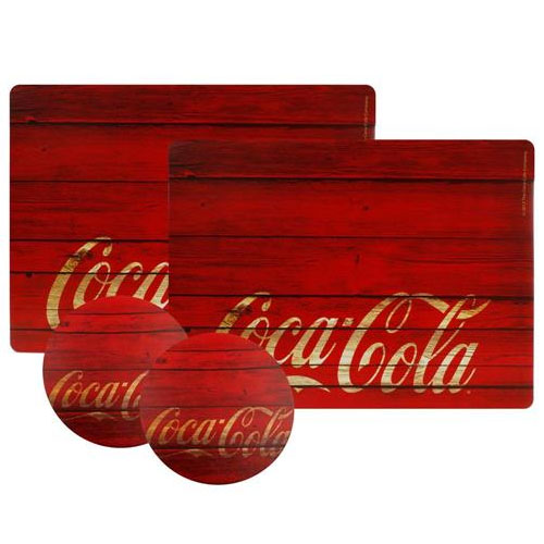 Jogo Americano Coca-Cola Wood (Set com 2)