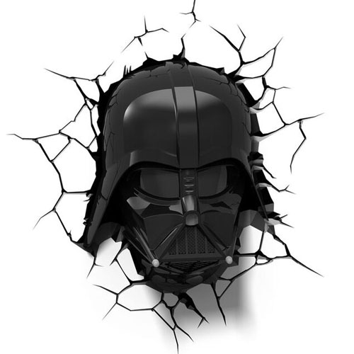 Máscara do Darth Vader - Luminária 3D Light FX Star Wars